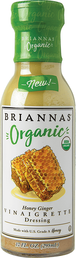 BRIANNAS Organic Honey Ginger Vinaigrette