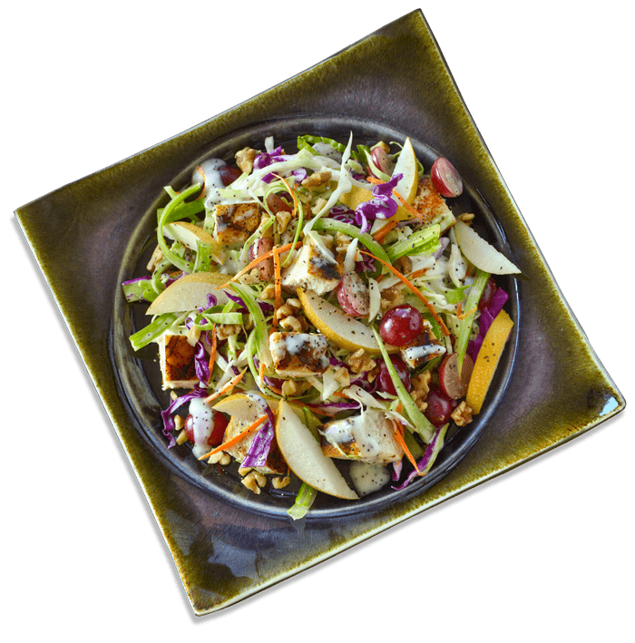 Salad made with Rich Poppy Seed dressing