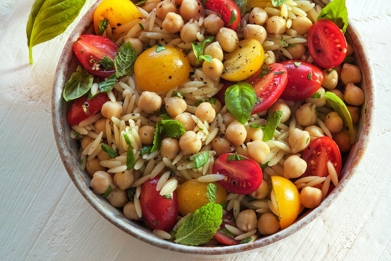 Orzo & Garbanzo Bean Salad
