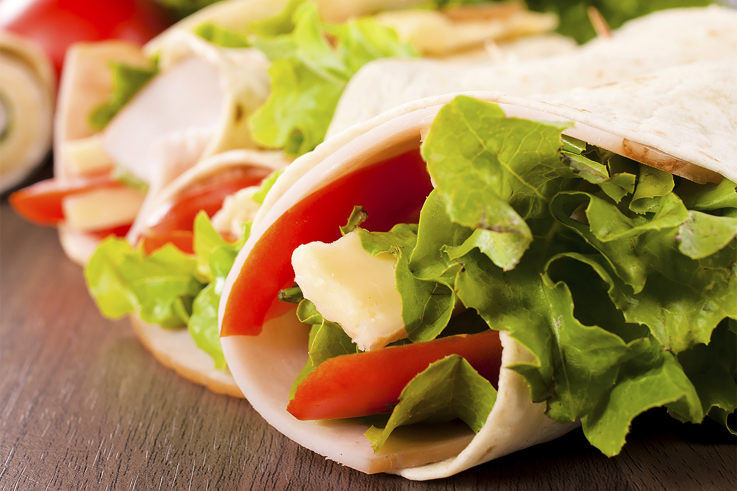Quick Ranch Turkey Wrap