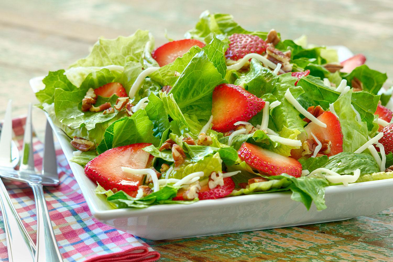 Strawberry Romaine Salad Briannas Salad Dressings