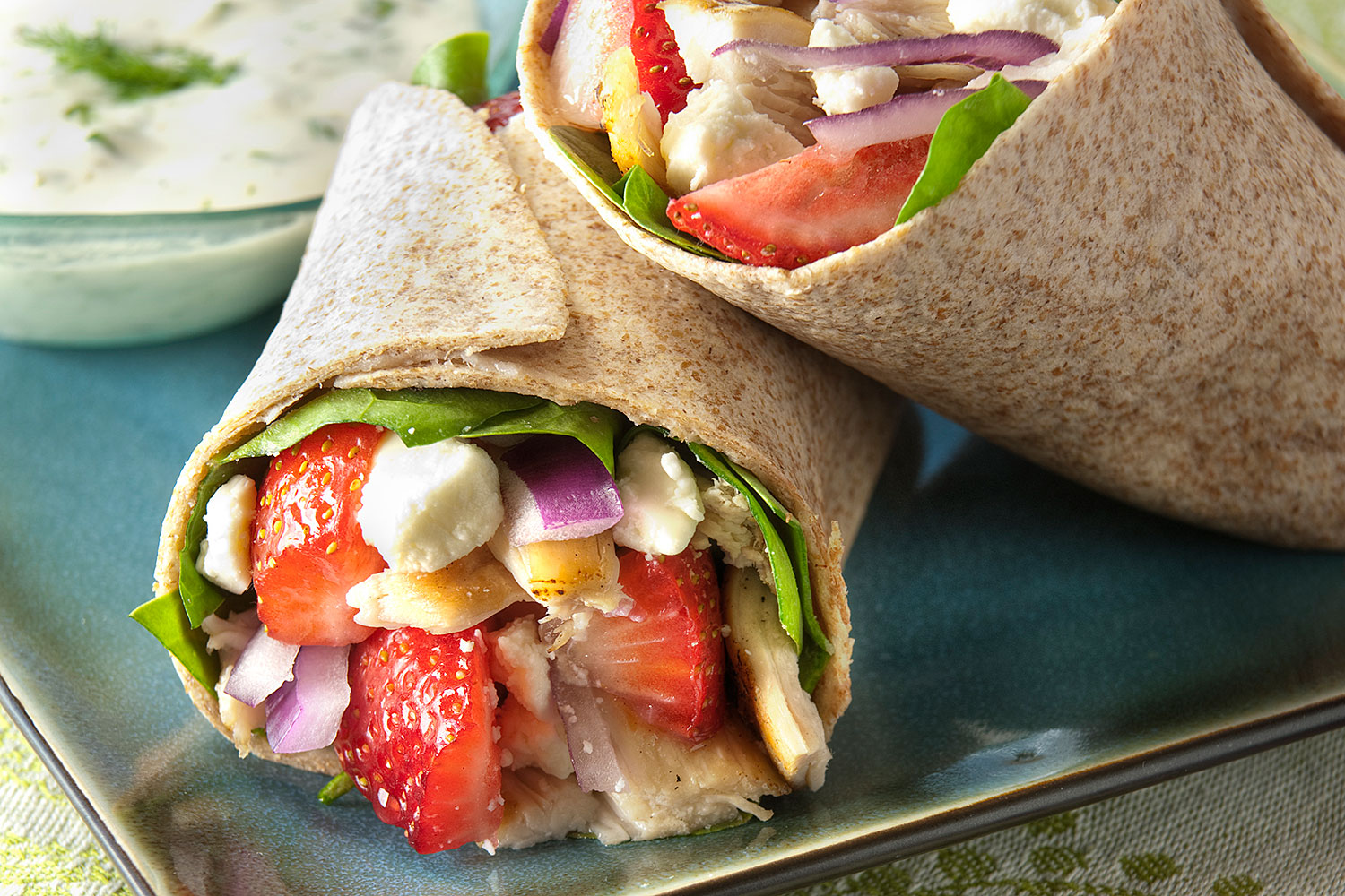 Chicken-Berry Gyro with Buttermilk Ranch Tzatziki