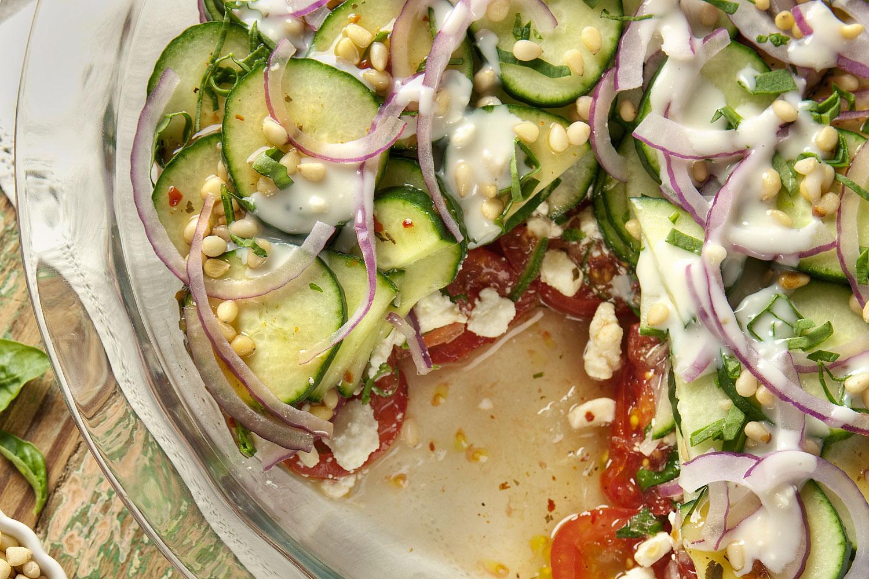 Tomato/Cucumber Pie