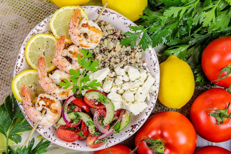 Mediterranean Grilled Shrimp Bowl