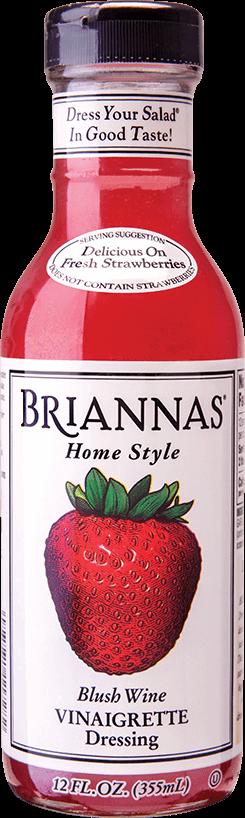 a bottle of blush wine vinaigrette salad dressing