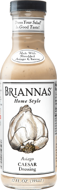 a bottle of Briannas Asiago Caesar