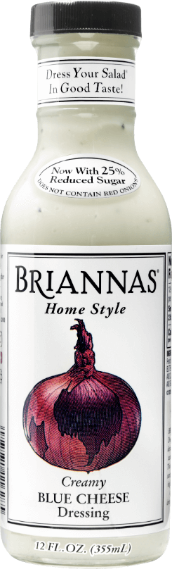 a bottle of Briannas Blue Cheese