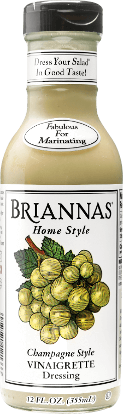 a bottle of Briannas Champagne Style Vinaigrette