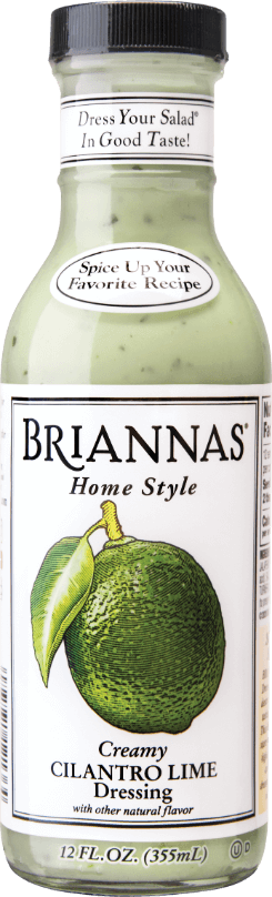 a bottle of Briannas Cilantro Lime