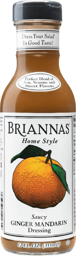a bottle of Briannas Ginger Mandarin