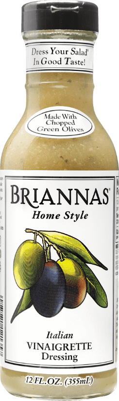 a bottle of Briannas Italian Vinaigrette