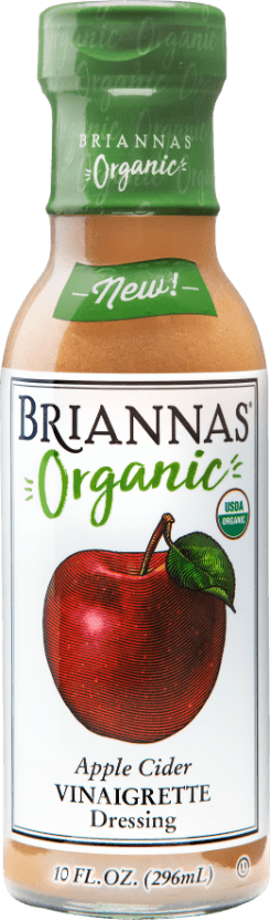 a bottle of Briannas Organic Apple Cider Vinaigrette