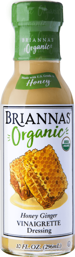 a bottle of Briannas Organic Honey Ginger