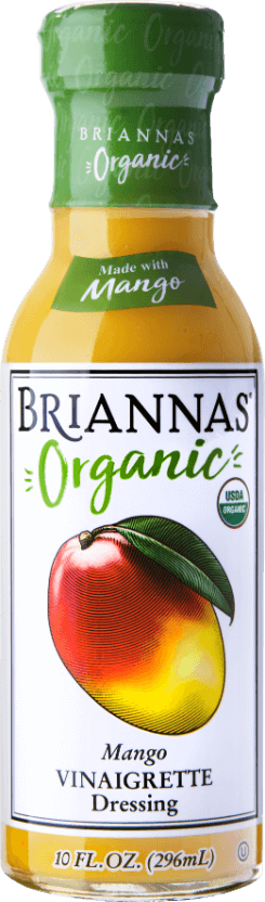 a bottle of Briannas Organic Mango Vin-Front