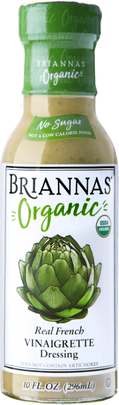 a bottle of Briannas Organic Real French