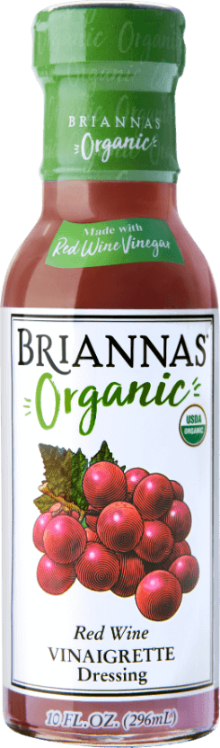 a bottle of Briannas Organic Red Wine