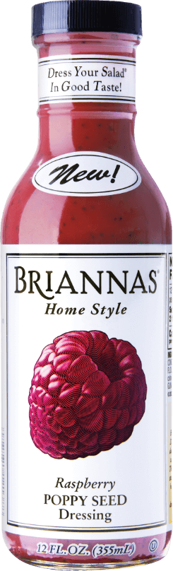 a bottle of Briannas Raspberry Poppy Seed